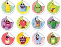 Cartoon cute monsters,vector Royalty Free Stock Image