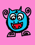 Cartoon cute monsters Royalty Free Stock Photo