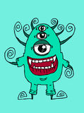 Cartoon cute monsters Stock Photography