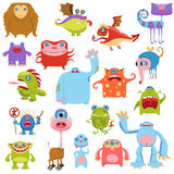 Cartoon cute monsters set Royalty Free Stock Images