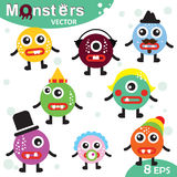 Cartoon cute monsters. Vector cool Stock Image