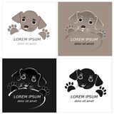 Cartoon cute outline dog Stock Images