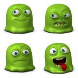 Cartoon cute parasitic Stock Image
