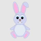 Cartoon cute rabbit Stock Images