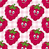 Cartoon Cute Raspberry Seamless Pattern Royalty Free Stock Image