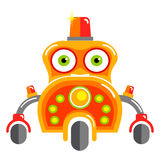 Cartoon cute robot. Royalty Free Stock Images