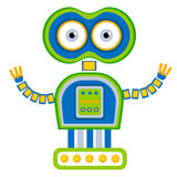 Cartoon cute robot. Royalty Free Stock Image
