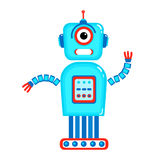 Cartoon cute robot. Colorful Toy robot. Vector character. Cartoon colorful illustration Stock Photos