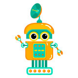 Cartoon cute robot. Colorful Toy robot. Vector character. Cartoon colorful illustration Royalty Free Stock Images