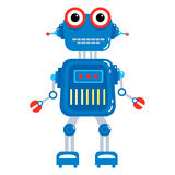 Cartoon cute robot. Colorful Toy robot. Vector character. Cartoon colorful illustration Royalty Free Stock Image