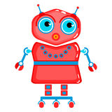 Cartoon cute robot. Colorful Toy robot. Vector character. Cartoon colorful illustration Royalty Free Stock Photo