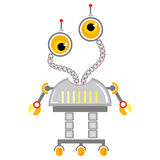 Cartoon cute robot. Colorful Toy robot. Vector characterColorful Toy robot. Vector character. Cartoon colorful illustration Royalty Free Stock Photography