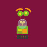 Cartoon Cute Robot Isolated On Background Royalty Free Stock Photo