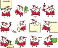 Cartoon cute Santas,vector Royalty Free Stock Image