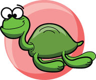 Cartoon cute  sea turtles,vector Stock Image