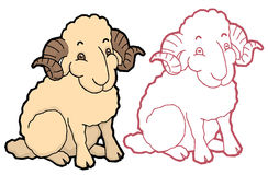 Cartoon cute sheep Royalty Free Stock Images