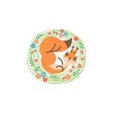 Cartoon cute squirrel. Little funny print. Vector illustration Stock Photo