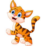 Cartoon cute tiger Stock Images