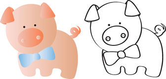 Cartoon cute toy baby pig Stock Photos