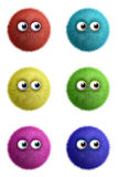 Cartoon cute toy ball. 3d cartoon cute toy ball Stock Photography