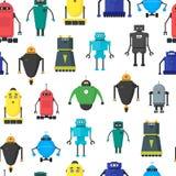 Cartoon Cute Toy Robots Background Pattern. Vector vector illustration