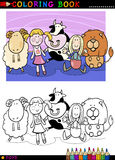 Cartoon cute toys for coloring Royalty Free Stock Image