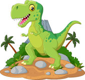 Cartoon Cute tyrannosaurus cartoon. Illustration of Cartoon Cute tyrannosaurus cartoon Royalty Free Stock Photo