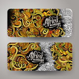 Cartoon cute vector doodles Africa banners Royalty Free Stock Photography