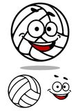 Cartoon cute volleyball ball Stock Image