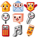 Cartoon cute web icon Stock Images