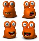 Cartoon cute worm Stock Image