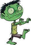 Cartoon cute zombie. Isolated on white Royalty Free Stock Image