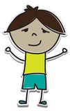 Cartoon Cutout of a Boy Stock Photography