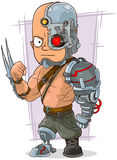 Cartoon cyborg with cool metal details Stock Photos