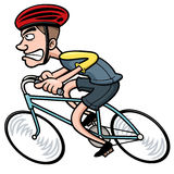Cartoon Cyclist Royalty Free Stock Photography
