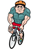 Cartoon Cyclist Stock Photo