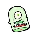 Cartoon cyclops head Royalty Free Stock Image