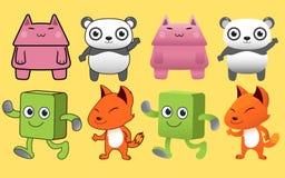 Cartoon 2d animal character Royalty Free Stock Photo