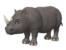Cartoon 3d rhino Royalty Free Stock Photos