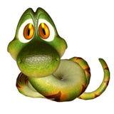 Cartoon 3d  snake Stock Image
