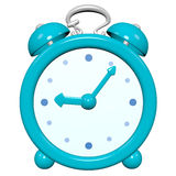 Cartoon 3D turquoise clock Stock Image