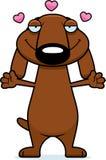Cartoon Dachshund Hug Stock Photo