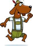 Cartoon Dachshund Running Stock Images