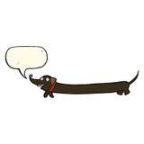 cartoon dachshund with speech bubble Stock Photo