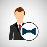 Cartoon dad father day bowtie. Vector illustration eps 10 Stock Images