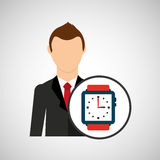 Cartoon dad father day watch icon. Vector illustration eps 10 Royalty Free Stock Images