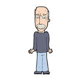 Cartoon dad shrugging shoulders Royalty Free Stock Photos