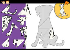 Cartoon dalmatian dog puzzle game Royalty Free Stock Photos
