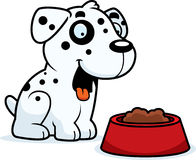 Cartoon Dalmatian Food Stock Photo