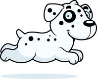 Cartoon Dalmatian Running Royalty Free Stock Photos